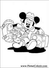 Pintar e Colorir Mickey - Desenho 002