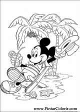 Pintar e Colorir Mickey - Desenho 003