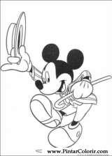 Pintar e Colorir Mickey - Desenho 105