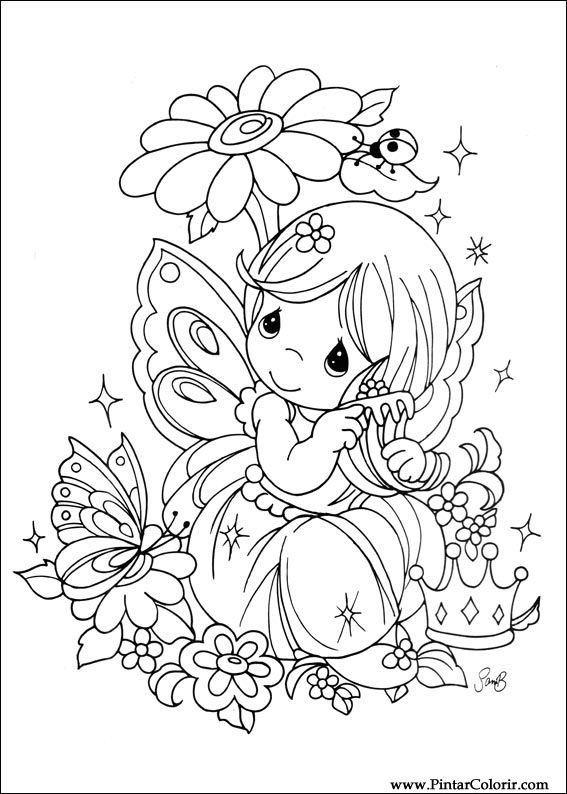 Drawings To Paint Colour Precious Moments Print Design 024