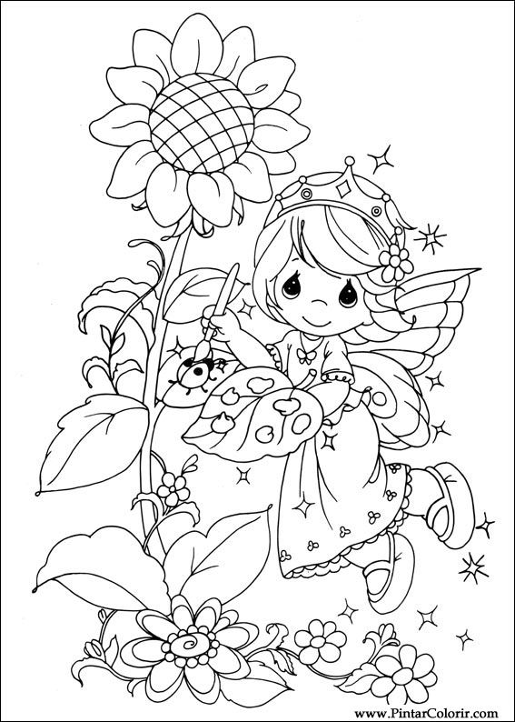 Dibujos para pintar y color precious moments dise o de for Precious moments halloween coloring pages