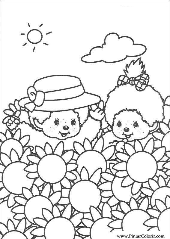 Pintar Colorir Monchichi 004 on 007 Cute Kitten Coloring Page