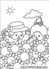 Pintar e Colorir Monchichi - Desenho 004