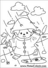 Pintar e Colorir Monchichi - Desenho 006