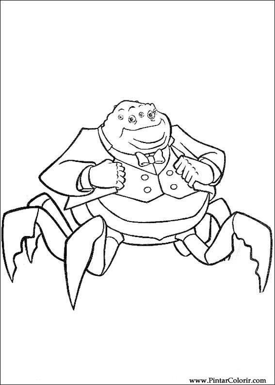 Tekeningen te schilderen kleur monsters inc print design 024 - Monster verf ...