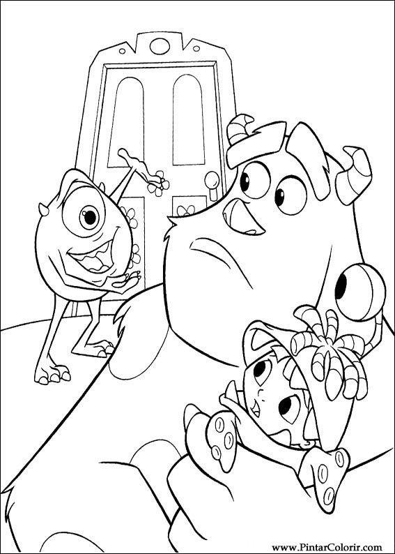 Desenhos Para Pintar E Colorir Monstros E Companhia Inc Color