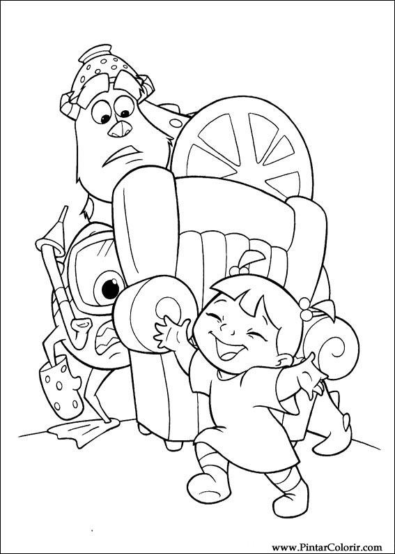 monsters inc door coloring pages - photo#29