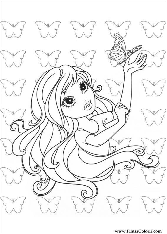 Dibujos Para Pintar Y Moxie Girlz Color Dise 241 O De