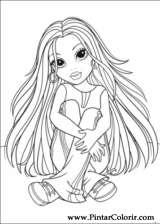Pintar e Colorir Moxie Girlz - Desenho 001