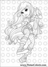 Pintar e Colorir Moxie Girlz - Desenho 002