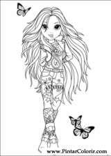 Pintar e Colorir Moxie Girlz - Desenho 003