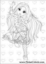 Pintar e Colorir Moxie Girlz - Desenho 004
