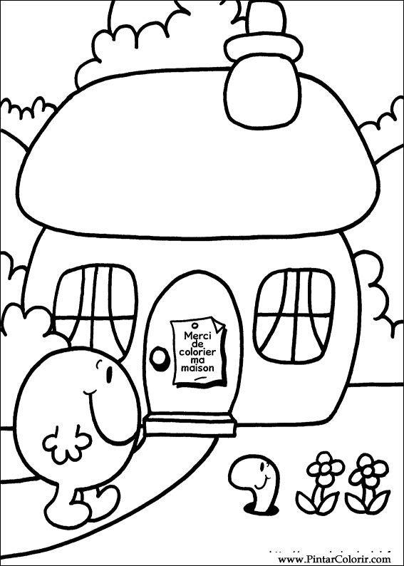 mr men coloring pages - drawings to paint colour mr men print design 017