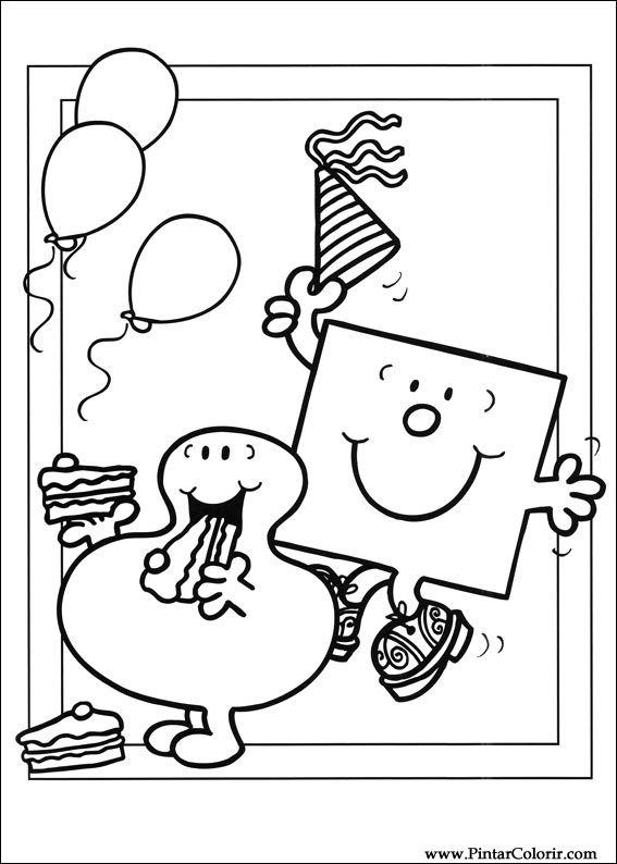 Drawings To Paint Colour Mr Men Print Design 032