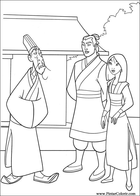 Disney Mulan And Shang Coloring Pages bigking keywords and pictures