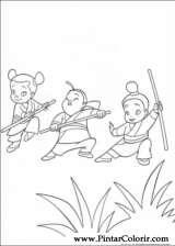 Pintar e Colorir Mulan - Desenho 002