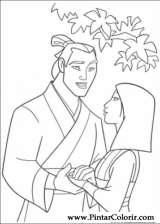 Pintar e Colorir Mulan - Desenho 003
