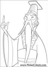 Pintar e Colorir Mulan - Desenho 008