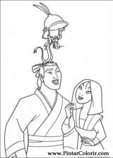 Pintar e Colorir Mulan - Desenho 033