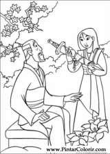 Pintar e Colorir Mulan - Desenho 034