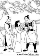 Pintar e Colorir Mulan - Desenho 044