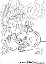 Pintar e Colorir Mulan - Desenho 051