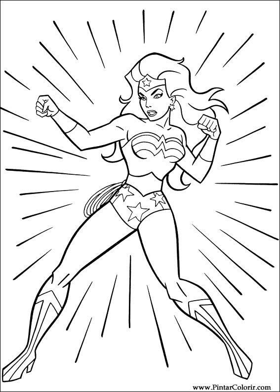 Dessins Peindre Couleur Wonder Woman Imprimer