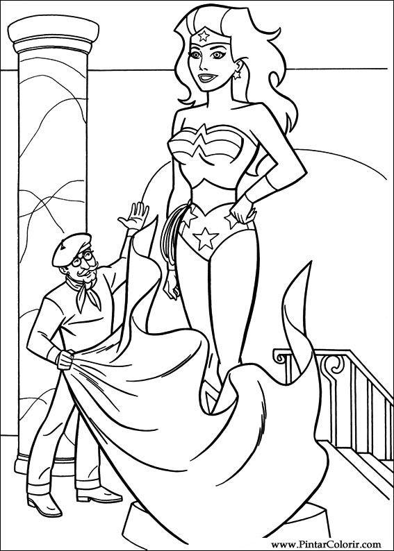 Disegni Per Dipingere amp Colour Wonder Woman Stampare