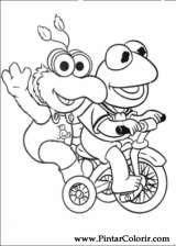 Pintar e Colorir Muppet Babies - Desenho 001