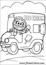 Pintar e Colorir Muppet Babies - Desenho 004