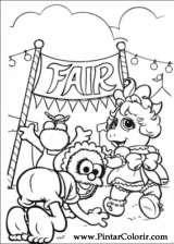 Pintar e Colorir Muppet Babies - Desenho 008