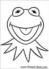 Pintar e Colorir Muppets - Desenho 007