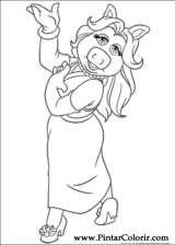 Pintar e Colorir Muppets - Desenho 009