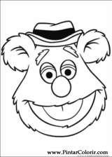 Pintar e Colorir Muppets - Desenho 010
