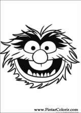 Pintar e Colorir Muppets - Desenho 011