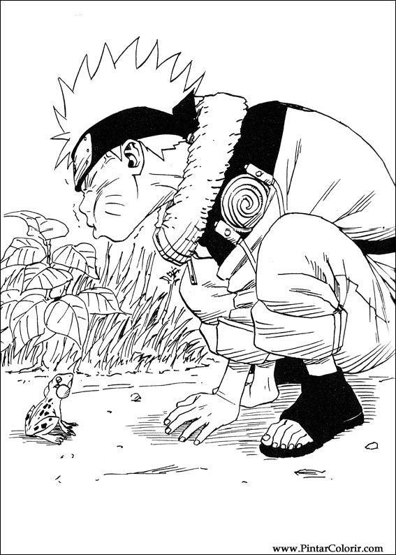 Pintar e Colorir Naruto - Desenho 003