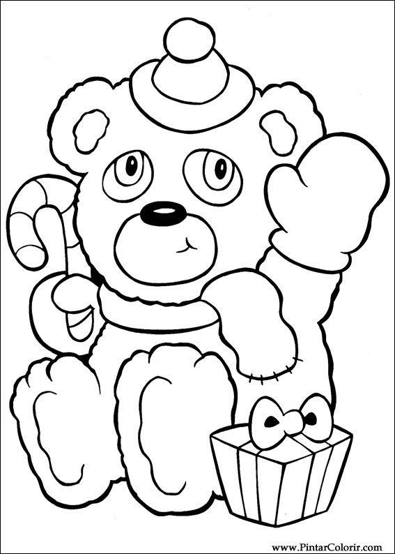 Tekeningen Te Schilderen Amp Kleur Kerst Print Design 008
