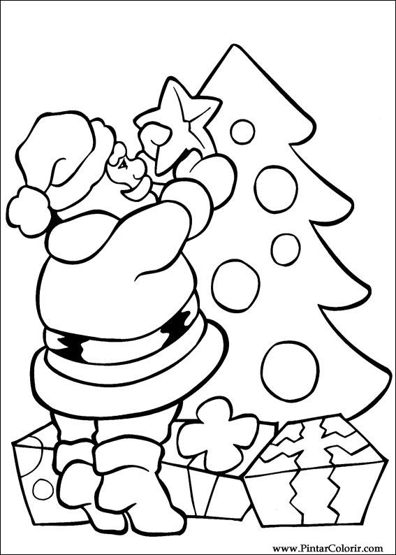 Drawings To Paint & Colour Christmas - Print Design 010