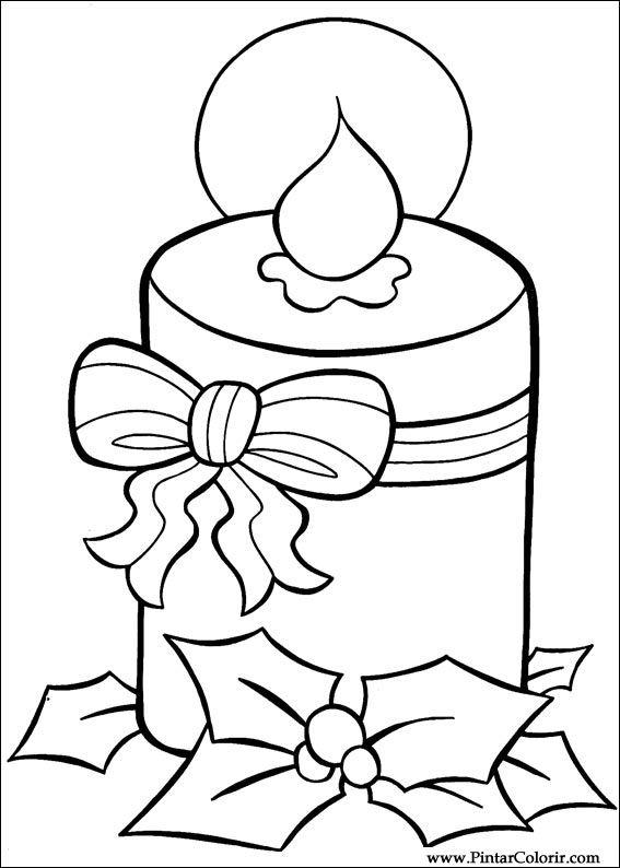 Dibujos para pintar y Color Navidad - Diseño de impresión 018