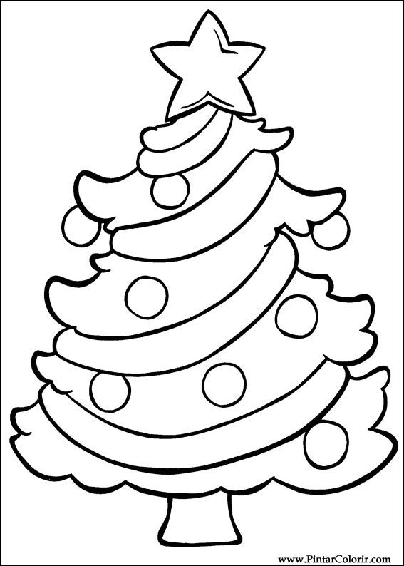 Drawings To Paint & Colour Christmas - Print Design 025