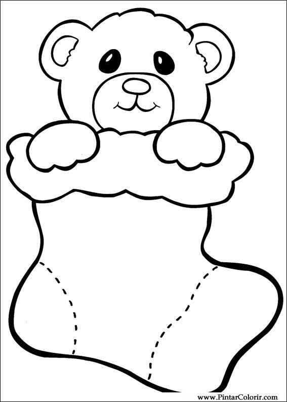 Tekeningen te schilderen kleur kerst print design 026 - Dibujos de navidad faciles ...