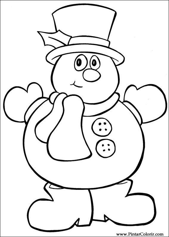 Desenhos para pintar e colorir natal imprimir desenho 032 - Dibujos de navidad faciles ...