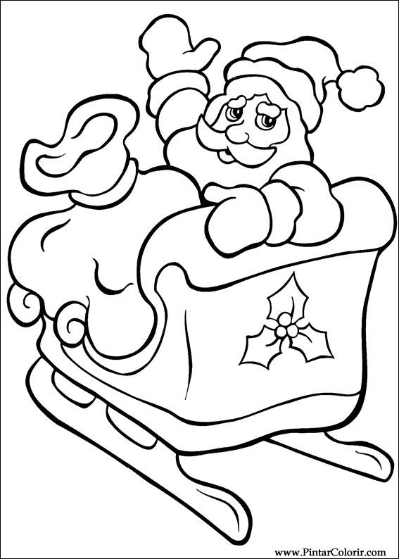 Drawings To Paint Amp Colour Christmas Print Design 034