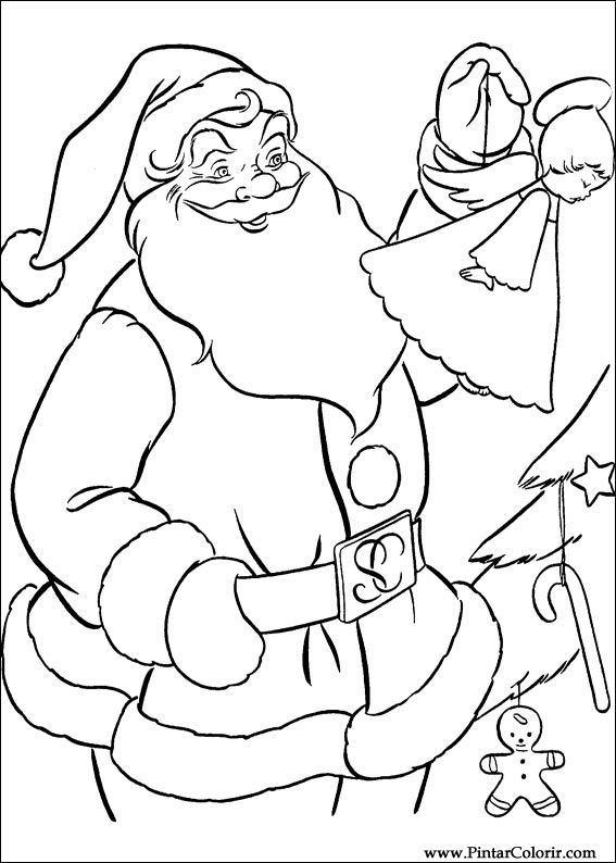Drawings To Paint & Colour Christmas - Print Design 047