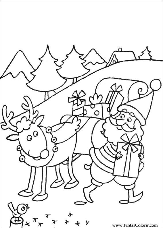 Drawings To Paint  Colour Christmas  Print Design 080