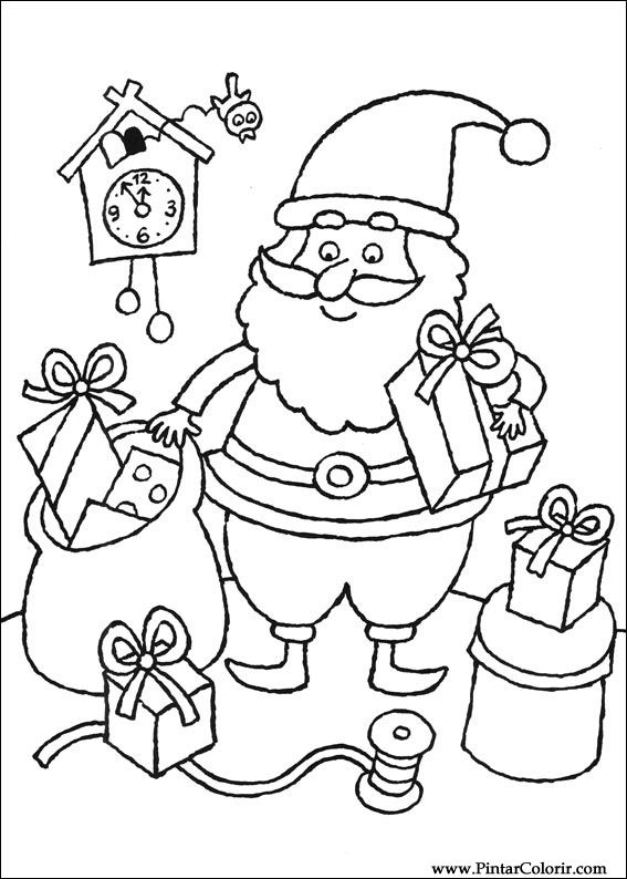 Drawings To Paint  Colour Christmas  Print Design 085