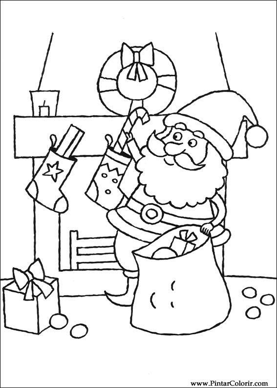 Ritningar Att måla & Färg Jul - Print Design 105