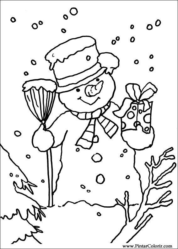 Zeichnungen zu malen und Farbe Weihnachten - Print Design 108