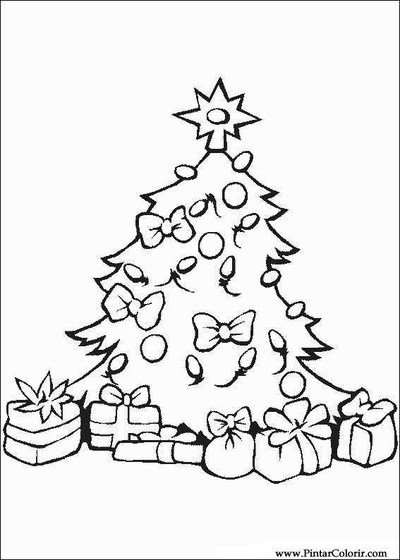 Zeichnungen zu malen und Farbe Weihnachten - Print Design 122