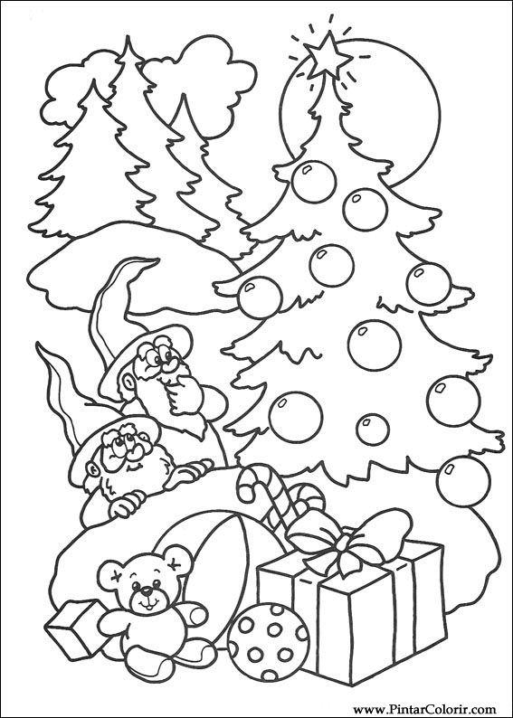 Zeichnungen zu malen und Farbe Weihnachten - Print Design 238